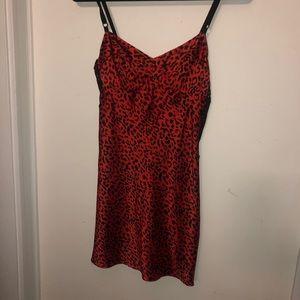 Victoria's Secret cheetah slip dress